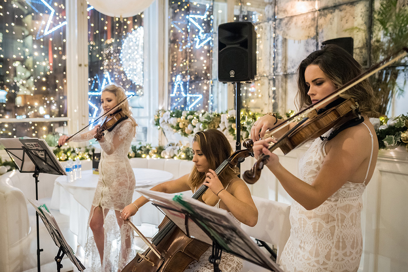event photography of string infusion string trio